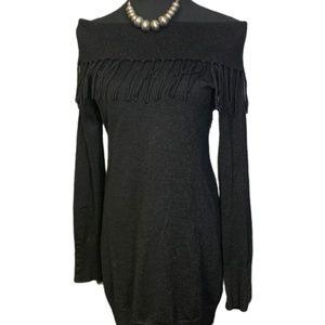 Off Shoulder Fringe White House Black Market Dress